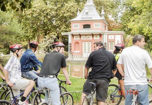 Parque del Retiro en bicicleta